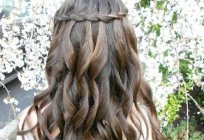 Loose hair with braids: hair styles