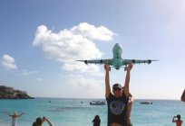 Maho beach is the most unique attraction of the Paradise of the Caribbean