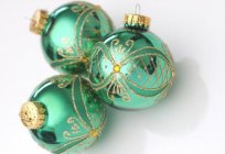 Glass Christmas decorations: Russia