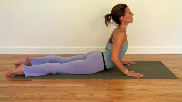 Cobra pose in yoga right