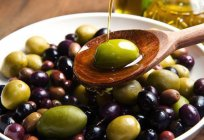 The caloric content of olives