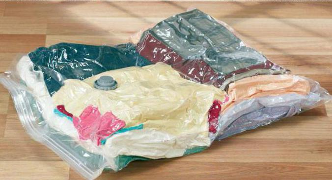 vacuum bag with your hands