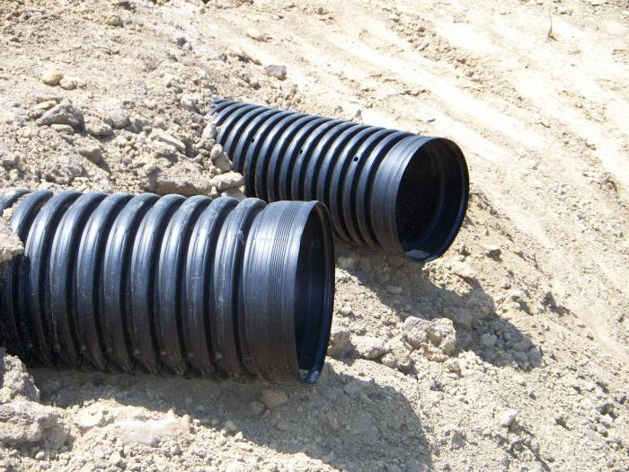 corrugated drainage pipes