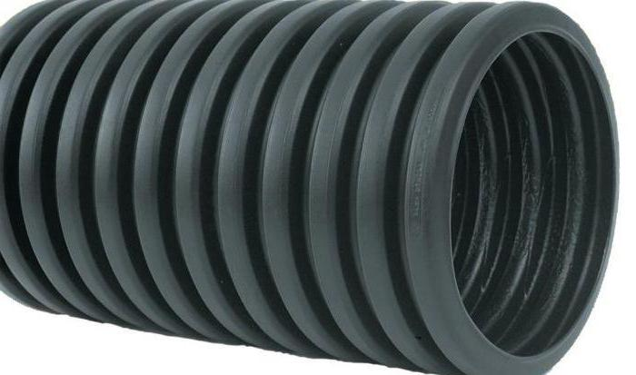 HDPE drainage pipe with geotextile