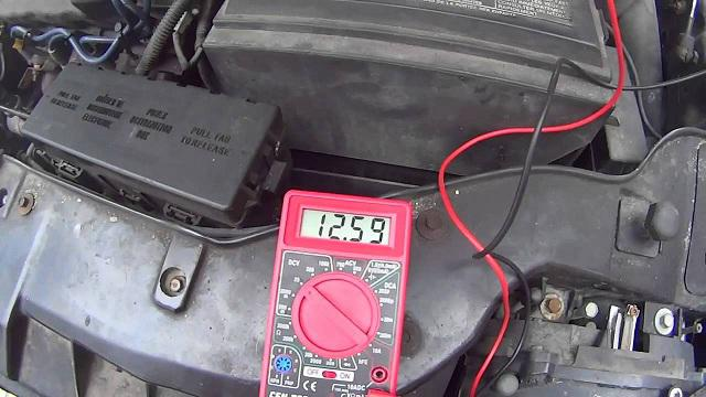 Normal battery voltage of the vehicle