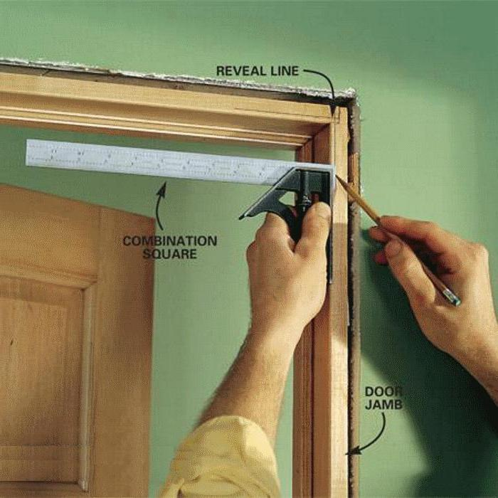 how to assemble the door frame