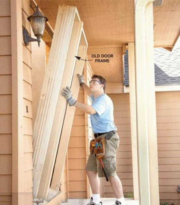 how to assemble and install the door frame