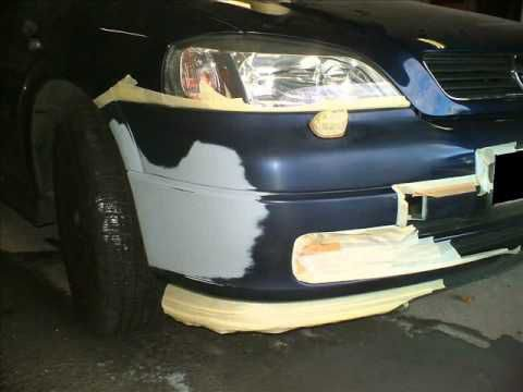 tuning the bumper with his own hands