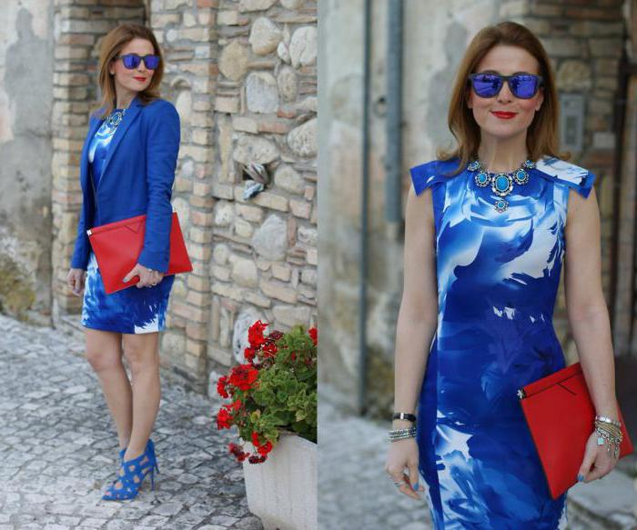 dark blue dress with blue shoes