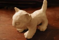 How to sculpt from clay cat with your child