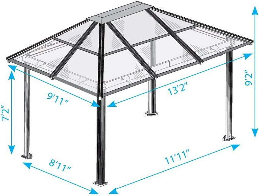 Simple gazebo, metal