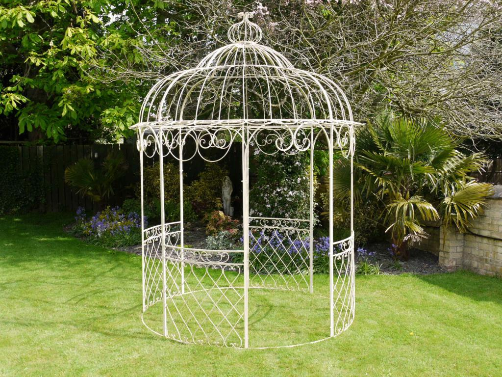 Gazebo with barbecue, metal