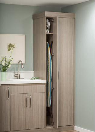 built-in Ironing Board with mirror