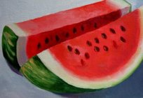 How to draw a watermelon, so it was similar to the present