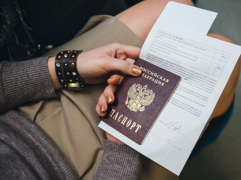 Preparation of documents on passport