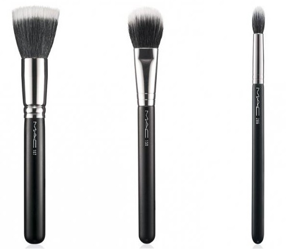 set of brushes for makeup mac 12 pieces