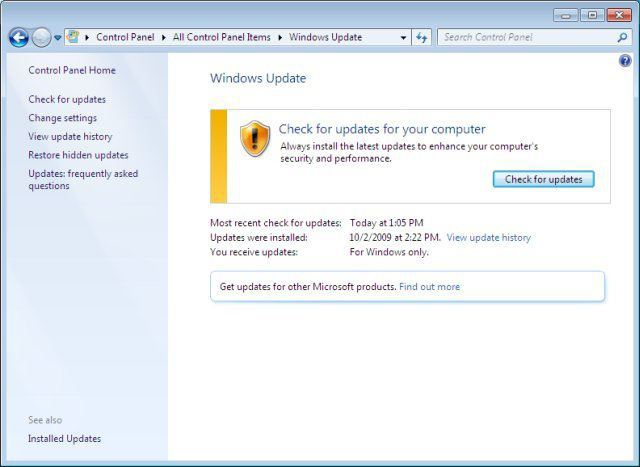 update for windows 7