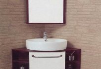 Furniture for bathroom corner - the perfect solution for small spaces
