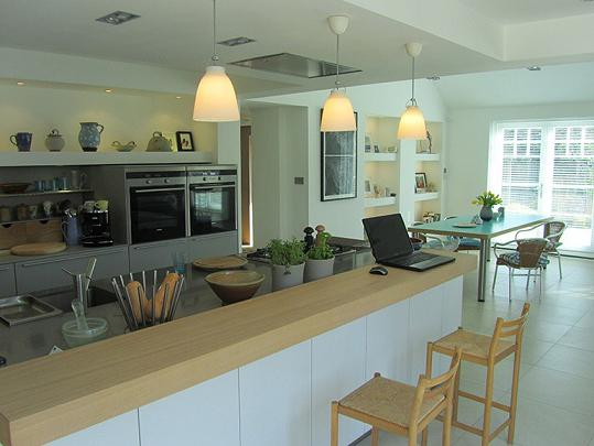 a kitchen in a private home layout color solutions