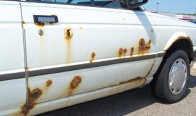 how to remove rust from the car