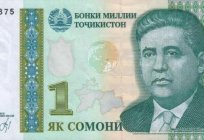 The currency of Tajikistan: description and photos