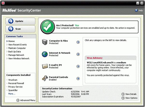 mcafee security that it