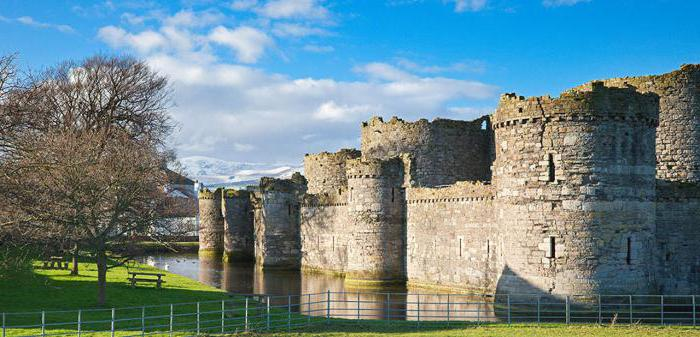 Burg Beaumaris in Wales