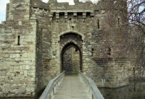 The majestic Beaumaris castle, the atmosphere is immersed in medieval England