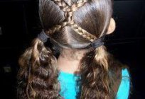 Haircut on long hair to a child. Options for festive and everyday hairstyles