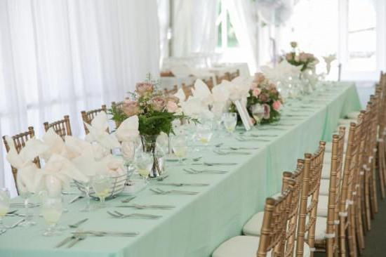 mint wedding in the style of