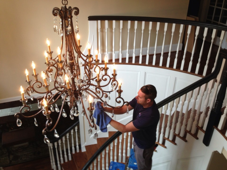 How To Wash A Crystal Chandelier With, Cleaning A Chandelier