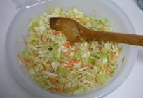 Delicious homemade: salad cabbage for the winter