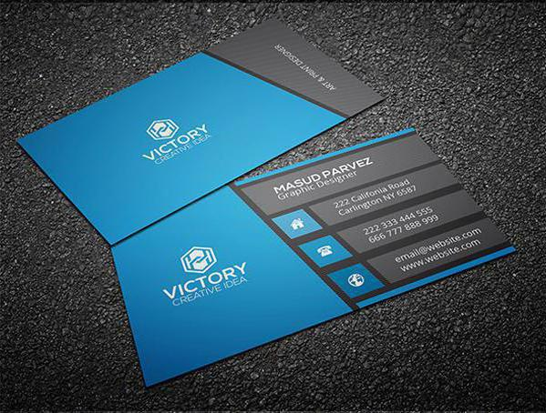 business card word format
