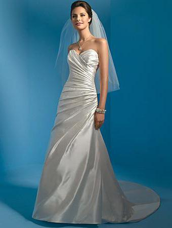 satin wedding dresses pictures