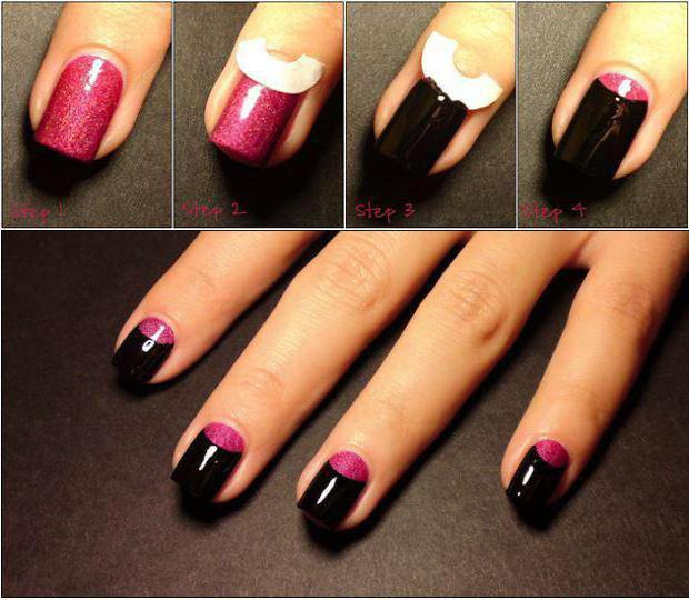 manicure ideas two colors