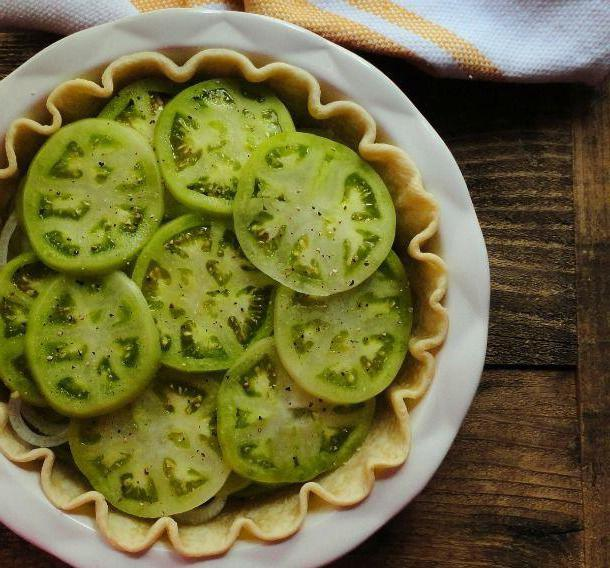 green tomatoes for the winter without sterilization salad