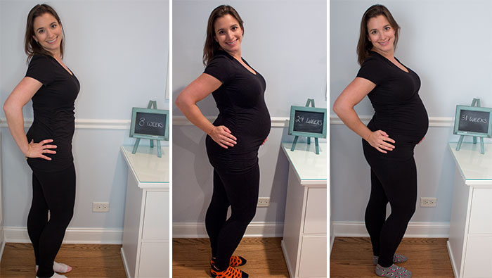 pregnant woman at different stages
