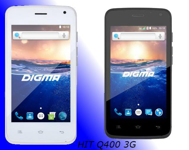 smartphone digma hit 3g q400 black reviews