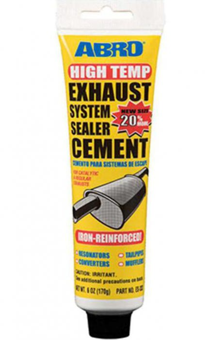 sealer for the exhaust system of a car how to use