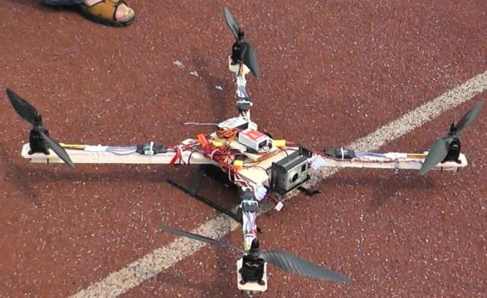 configuration quadcopter