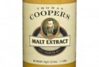 Malt extracts for beer