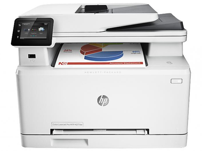 laser printer hp what settings