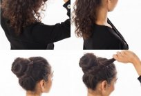 Hair pin Twister. Options of hairstyles